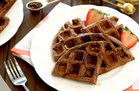 Hungry Girl's Healthy Double Chocolate Brownie Waffles Recipe
