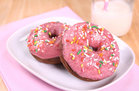 Hungry Girl's Healthy Frosted & Sprinkled Chocolate Donuts Recipe