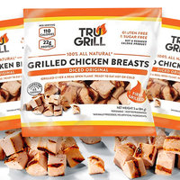 Gourmet Boutique Tru Grill 100% All Natural Chicken Snacks Grilled & Diced Chicken Breast