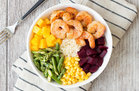 Hungry Girl's Healthy Shrimp 'n Veggie Power Bowl Recipe