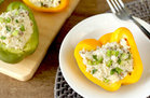 Hungry Girl's Healthy Cheesy Faux-sotto Stuffed Peppers Recipe