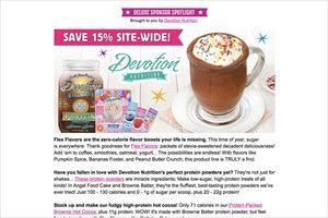 Deluxe Sponsor Spotlight (Email Feature)
