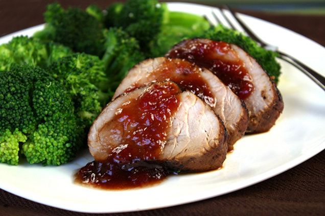 Healthy Glazed Roast Pork Tenderloin Recipe