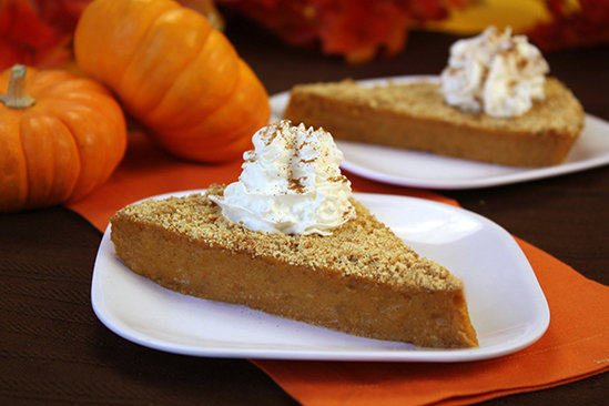 Upside-Down Pumpkin Pie