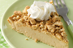 Healthy Freezy Downside-Up PB Dream Pie Recipe