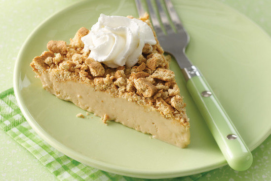Healthy Freezy Downside-Up PB Dream Pie Recipe