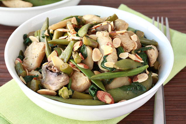 Healthy Chicken Almond Veggie Stir-Fry Recipe