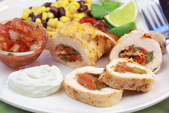 Healthy Fajita Stuffed Chicken Recipe