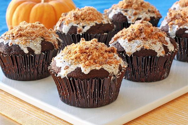 Butterfinger Cupcakes With Cake Mix
