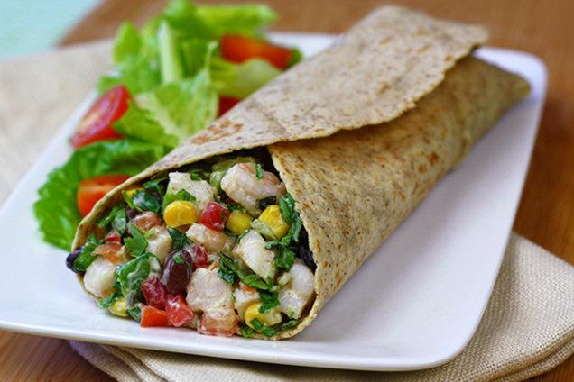 Healthy Mexican Shrimp Wrap Recipe