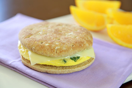 Cheesy Veggie-Boosted B-fast Sandwich