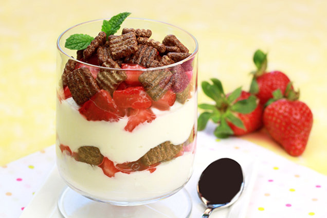 Choco-Berry Crunch Yogurt Parfait