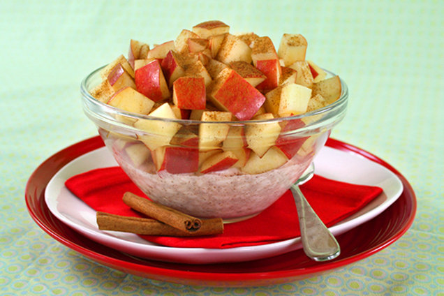 Hungry Girl's Healthy Double-0-Cinnamon Apple Breakfast Bowl Recipe