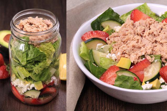 Hungry Girl's Healthy Fruit 'n Feta Tuna Salad in a Jar Recipe
