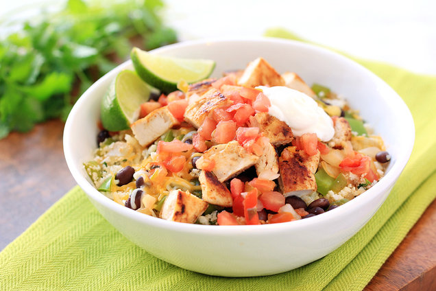 Hungry Girl's Healthy Fully Loaded Burrito Bowl Recipe