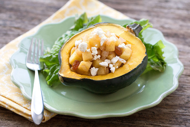 Hungry Girl's Healthy Stuffed Harvest Acorn Squash Recipe