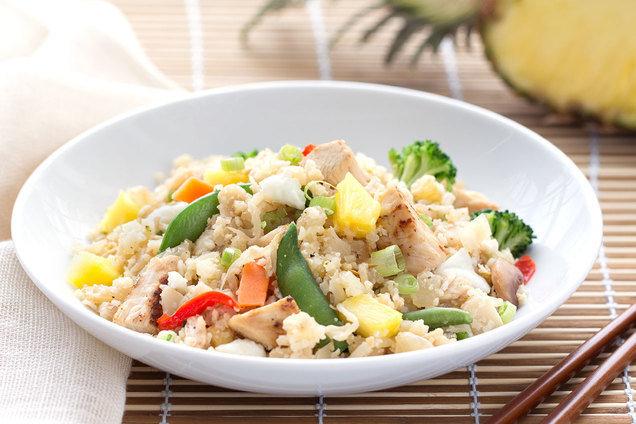 Hungry Girl's Healthy Hawaiian Cauliflower Fried Rice Recipe