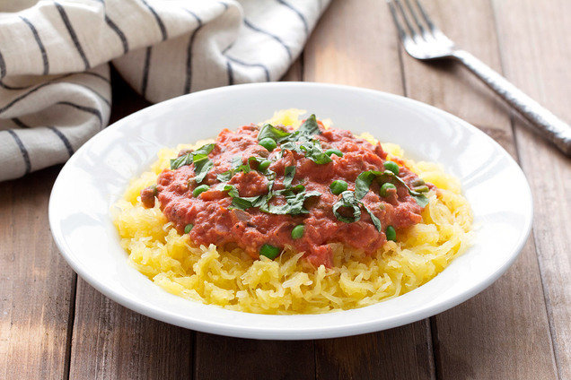 Hungry Girl's Spaghetti Squash alla Vodka Recipe