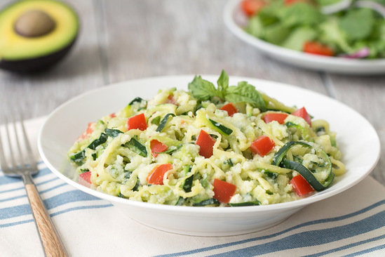 Hungry Girl's Healthy Avocado Z'paghetti Girlfredo Recipe
