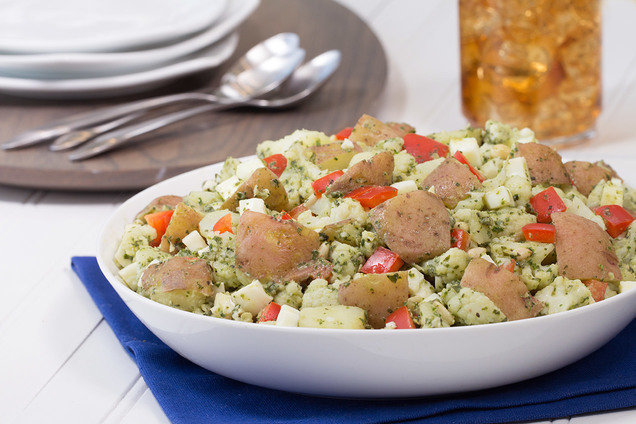Hungry Girl's Healthy Pesto Potato-Cauliflower Salad Recipe
