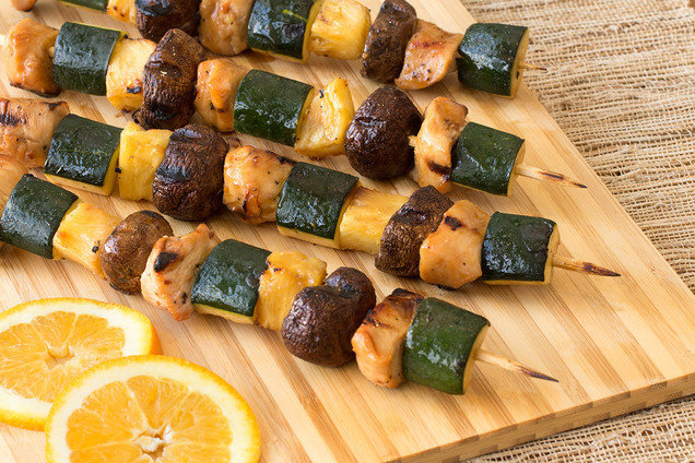 Hungry Girl's Healthy Teriyaki Orange Chicken Kebabs Recipe