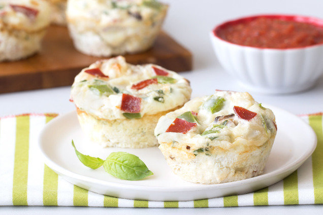 Healthy Pizza Egg Bakes Recipe