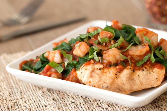 Healthy Chicken Shrimp Recipe Mikes Diet Chicken A La Hg