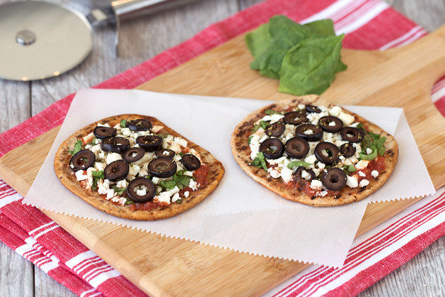 Hungry Girl's Healthy Mini Greek Pizzas Recipe
