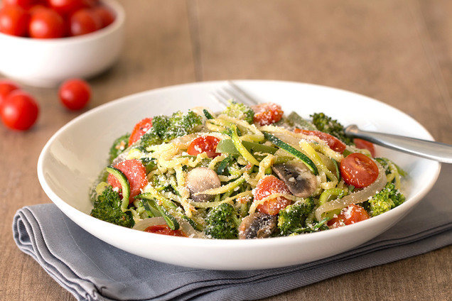 Hungry Girl's Healthy Z'paghetti Primavera Recipe