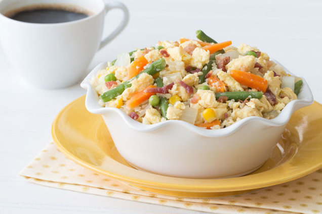 Healthy Cauliflower Fried Rice for Breakfast Recipe