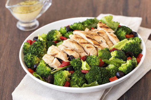 Healthy Chicken Broccoli Salad With Parmesan Dressing Recipe