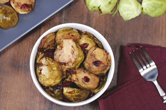 Hungry Girl's Healthy Cranberry Balsamic Brussels Sprouts Recipe