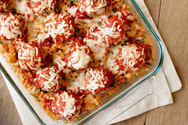 Hungry Girl's Healthy Freeze It Meatball Casserole Recipe