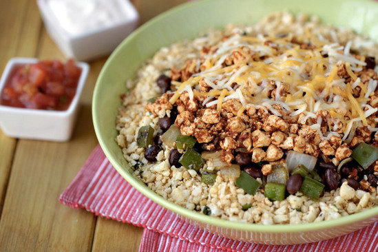 Hungry Girl's So-Good Sofritas Cauliflower Rice Bowl Recipe