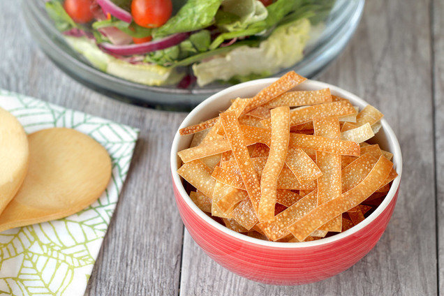 Hungry Girl's Crunchy Wonton Strips Recipe