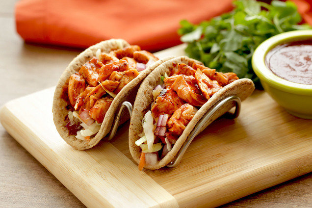 Healthy Tropical BBQ Chicken Tacos Recipe