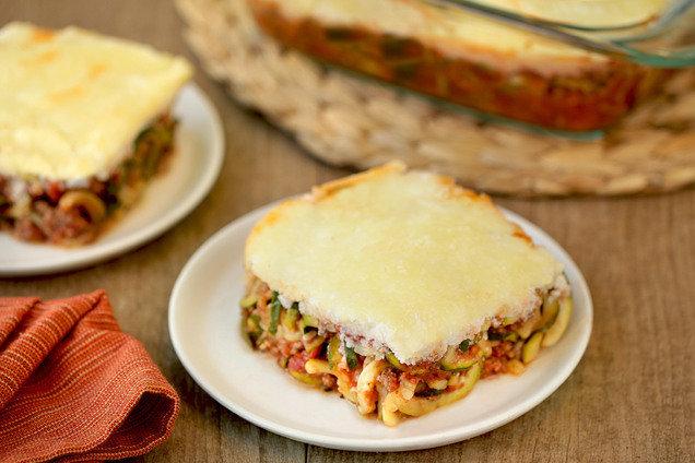Hungry Girl's Healthy Lasagna Z'paghetti Bake Recipe