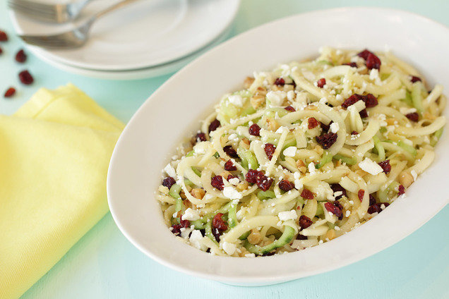 Hungry Girl's Healthy Spiral Fruit & Cuke Salad Recipe