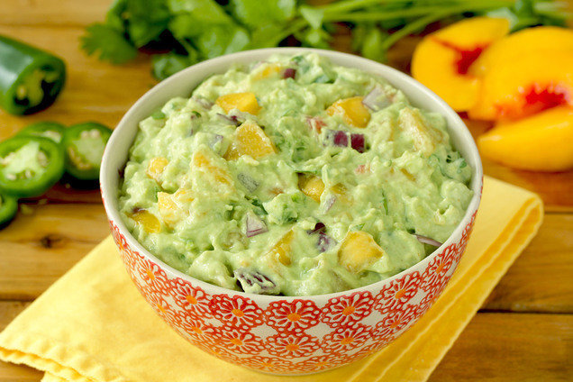 Hungry Girl's Healthy Hot Stuff Peach Guacamole Recipe