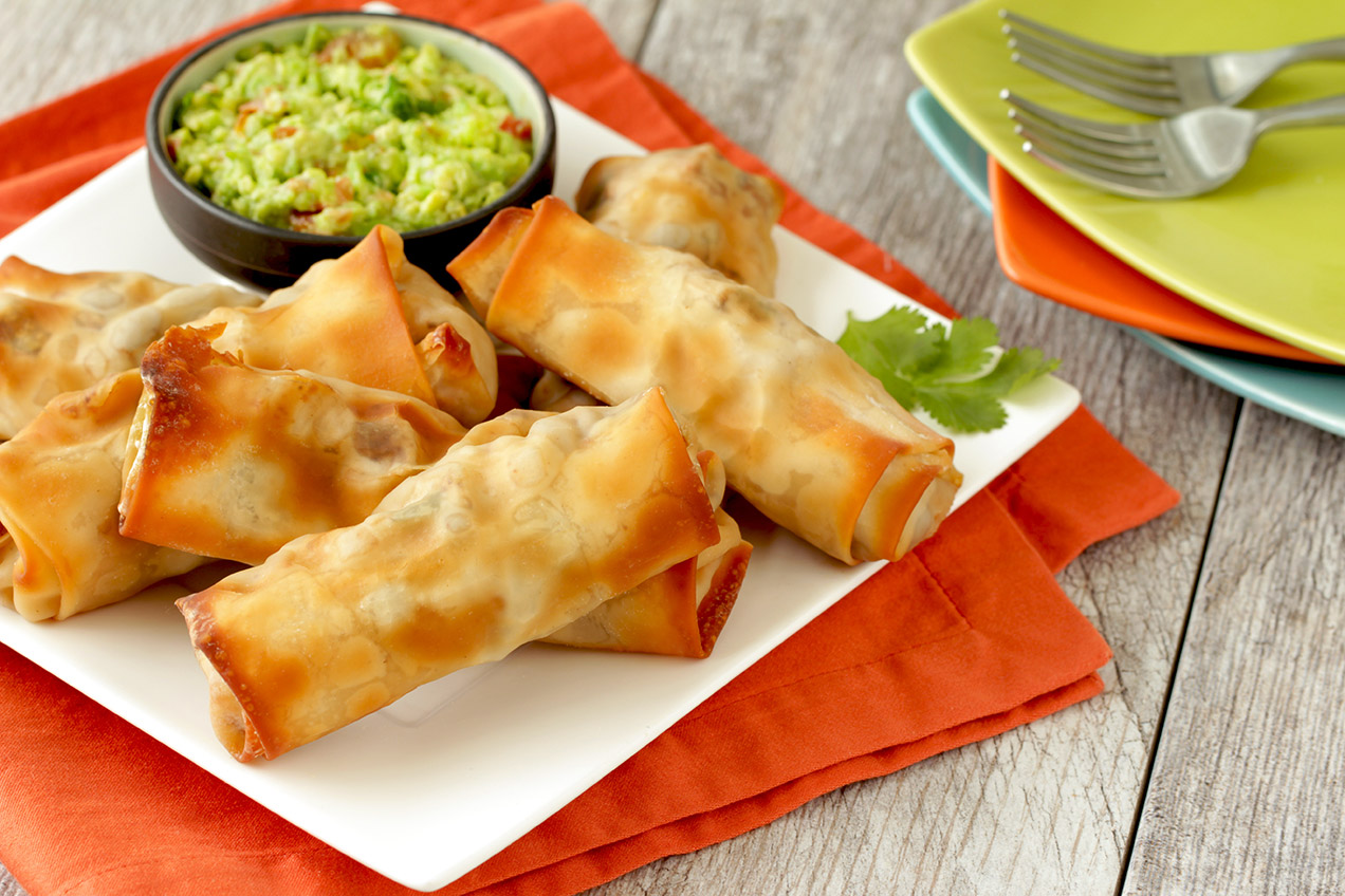 recipe: southwest chicken egg rolls [2]