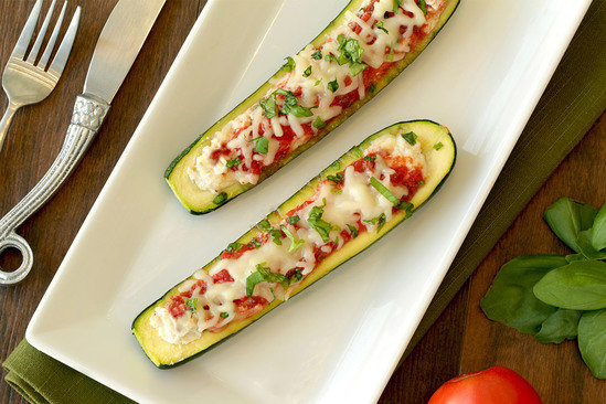 Hungry Girl's Healthy Italian-Style Stuffed Zucchini Recipe