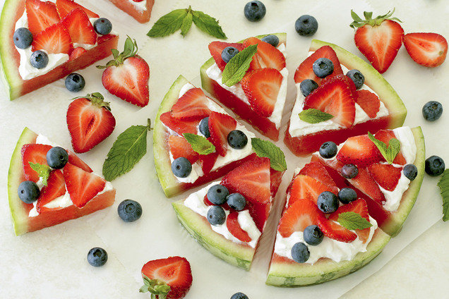 Hungry Girl's Healthy Way-Good Watermelon Pizza Recipe