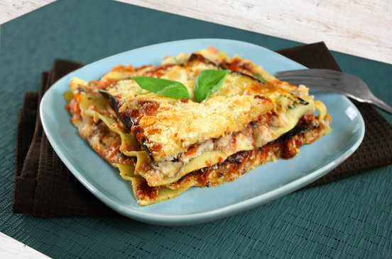 Hungry Girl's Healthy EZ Cheesy Lasagna for Two Recipe