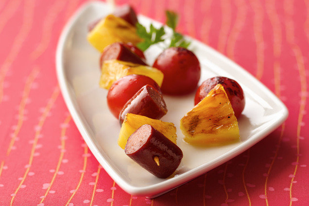 Fresh & Fruity Hot Dog Skewers