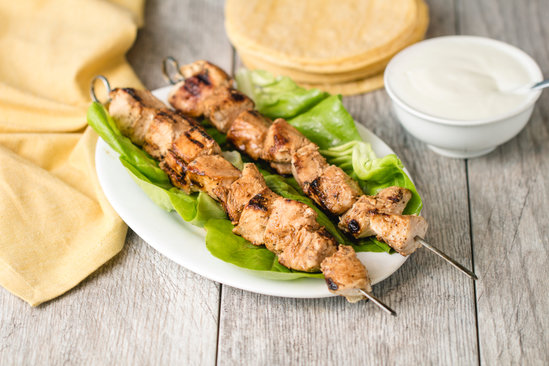 Yogurt-Marinated Grilled Chicken Skewers