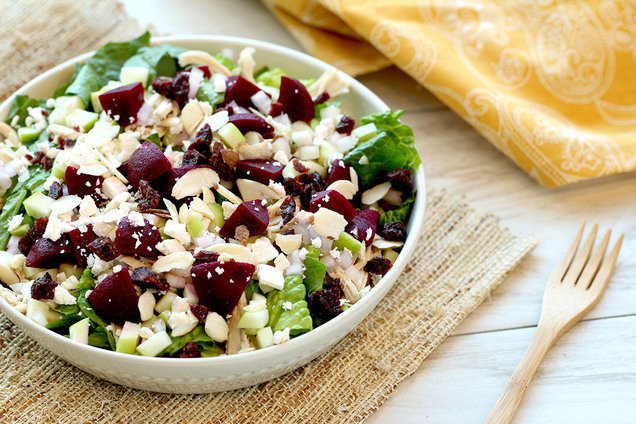 Healthy Fruit Feta Shredded Chicken Salad Recipe Hungry Girl