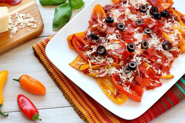 Hungry Girl's Healthy Mini Bell Pepper Pizza Nachos Recipe