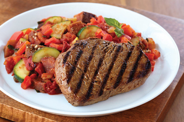Hungry Girl's Healthy Grilled Steak with Ratatouille Recipe