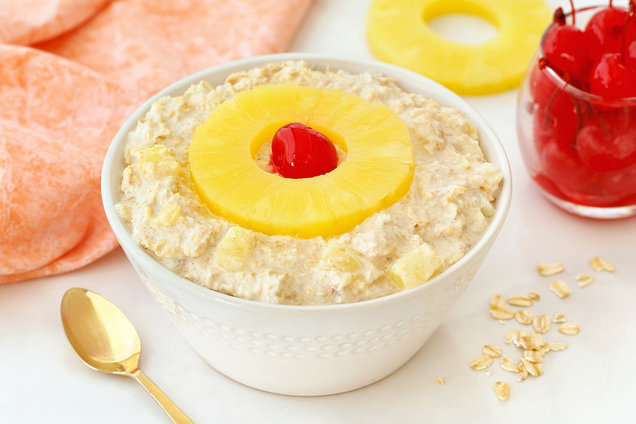 Hungry Girl's Healthy PineappleRight-Side-UpOvernightOats Recipe
