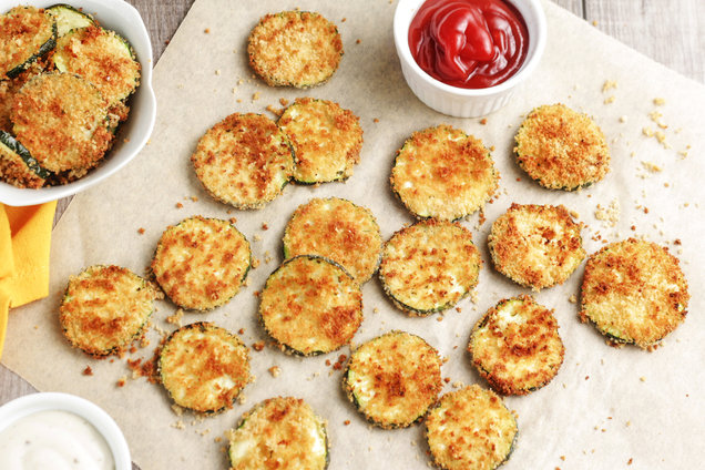 Hungry Girl's Healthy Air-Fried Ranch Zucchini Chips Recipe